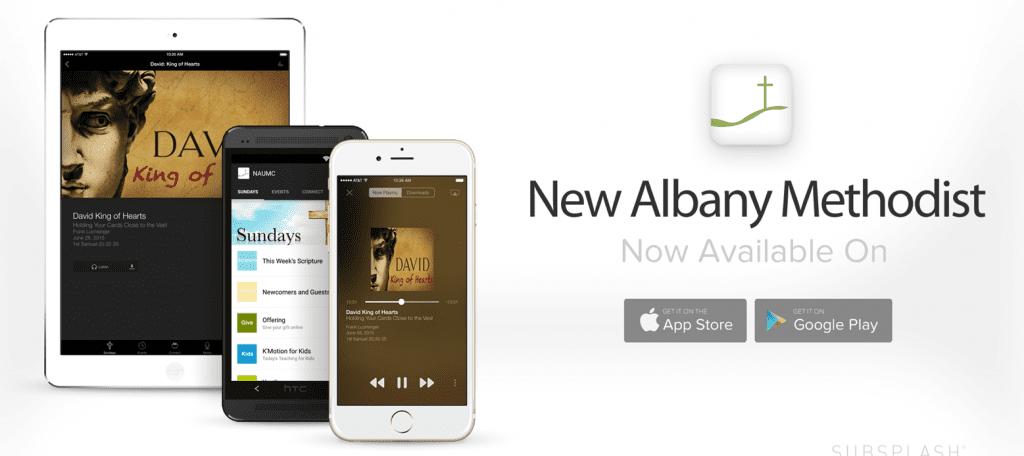 Subsplash App Promo - New Albany United Methodist Church